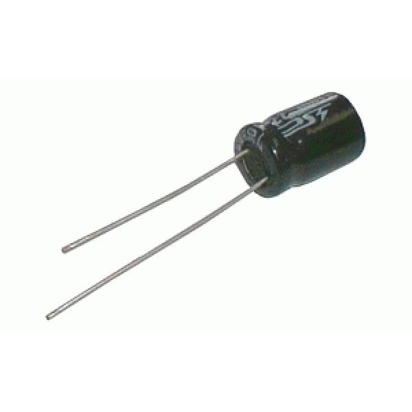 Kondenzátor elektrolytický 1M 400V 8x12-3.5 rad.C