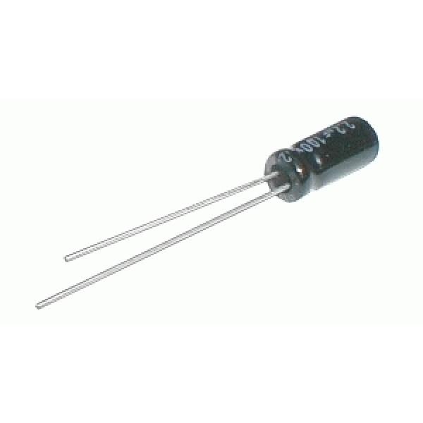 Kondenzátor elektrolytický 1M 63V 5x11-2.5 rad. C