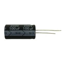 Kondenzátor elektrolytický 100M 250V 16x30-7.5 105*C rad.C