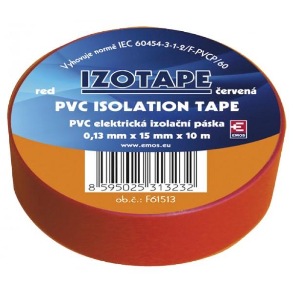 Izolačná páska PVC 15 10m červená