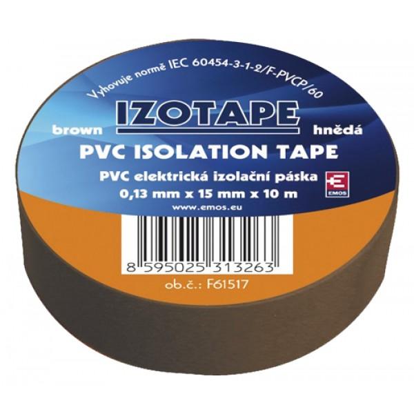 Izolačná páska PVC 15 10m hnedá