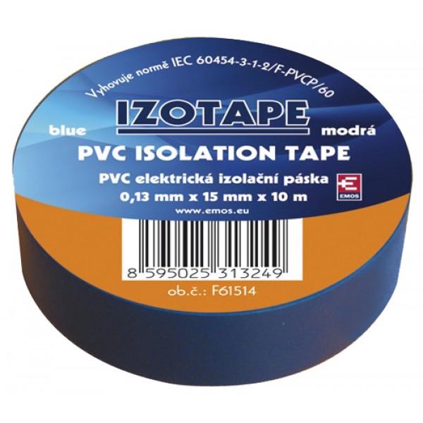 Izolačná páska PVC 15 10m modrá