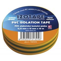 Izolačná páska PVC 15 10m zelenožltá