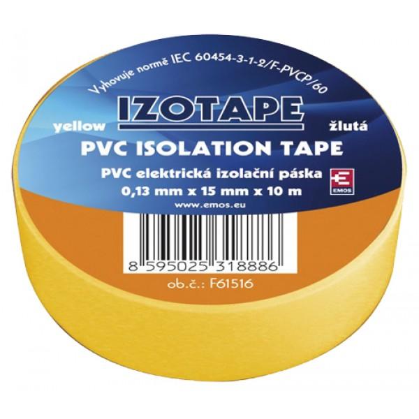 Izolačná páska PVC 15 10m žltá