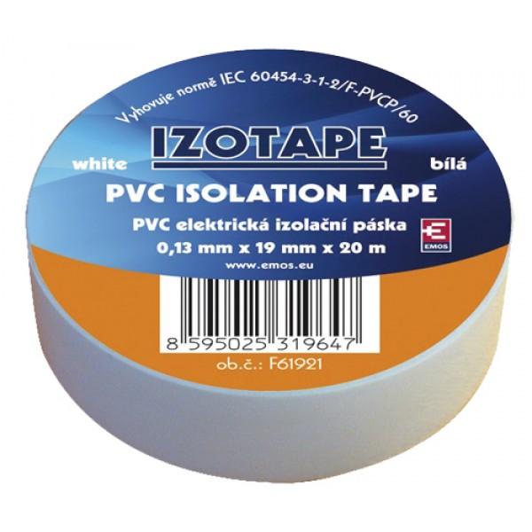 Izolačná páska PVC 19 20m biela