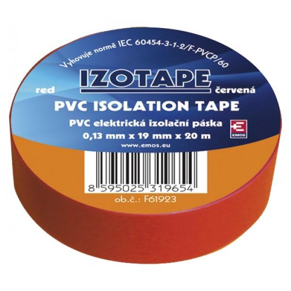 Izolačná páska PVC 19 20m červená