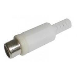 Zdierka CINCH kábel plast biela