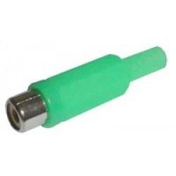 Zdierka CINCH kábel plast zelená