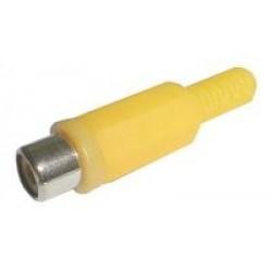 Zdierka CINCH kábel plast žltá