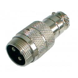 Konektor MIC kábel kov 3PIN skrutkovací