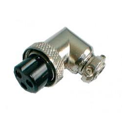 Zdierka MIC kábel kov 3PIN úhlová skrutkovacia