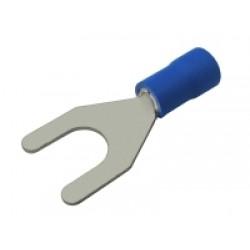 Vidlička 6.5mm, vodič 1.5-2.5mm modrá
