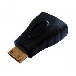 Redukcia konektor HDMI mini - HDMI zdierka typ A