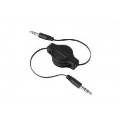 Kábel Jack 3.5 stereo - Jack 3.5 stereo 0,8m navíjací