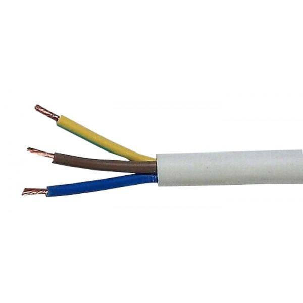 Kábel 3x0,75mm2 guľatý 230V H05VV-F (CYSY)