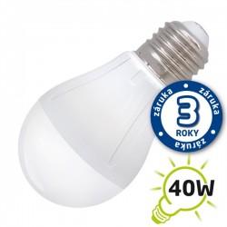 LED žiarovka A55, E27 230V, 5W - biela teplá (záruka 3 roky) (DVZLED)