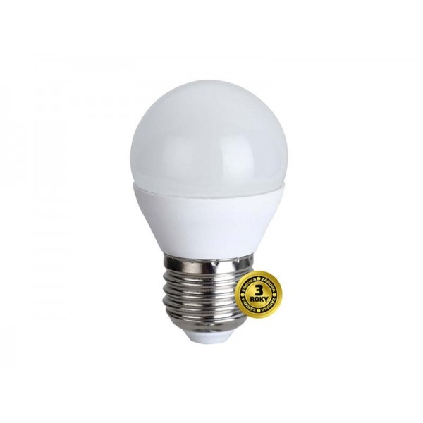 LED žiarovka, miniglobe, 6W, E27, 3000K, 420lm