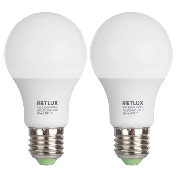 LED žiarovka Retlux REL 7 LED A60 2x7W E27