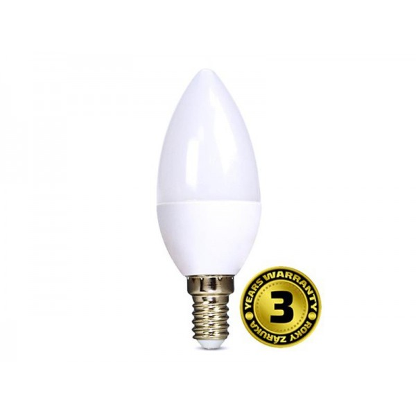 Žiarovka LED C37 E14 6W biela studená SOLIGHT