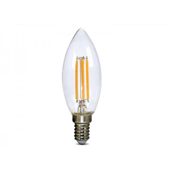 Žiarovka LED C37 E14 4W biela teplá retro SOLIGHT, 3 roky záruka