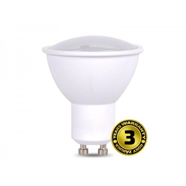 Žiarovka LED SPOT GU10 7W biela teplá SOLIGHT WZ318A