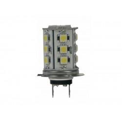 LED žiarovka 12V, H7, 18LED 3SMD