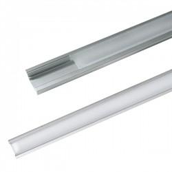 AL profil pre LED, AR1 + plexi pre zapustenie 24,5x8mm l = 2m (zacvakávací zasúvací)