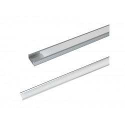 AL profil pro LED, AS5 + plexi k přisazení 15,2x6mm l=1m