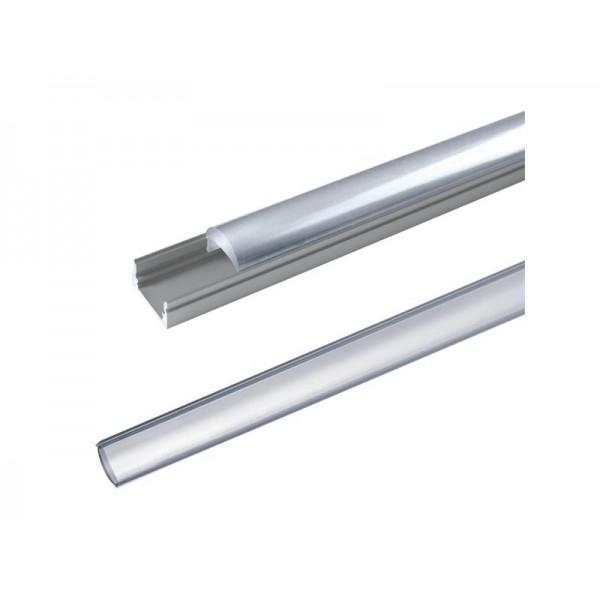 AL profil pre LED, AL60 + plexi (vypuklý) k prisadením 17,1x13mm l = 2m (zacvakávací zasúvací)