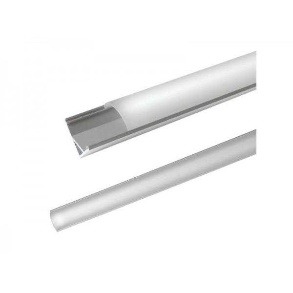 AL profil pre LED, AC2 + plexi rohový 16x16mm l = 1m (zacvakávací zasúvací)