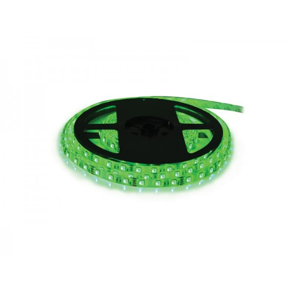 LED pásik 3528 60LED m IP20 4.8W m zelená (cievka 20m)