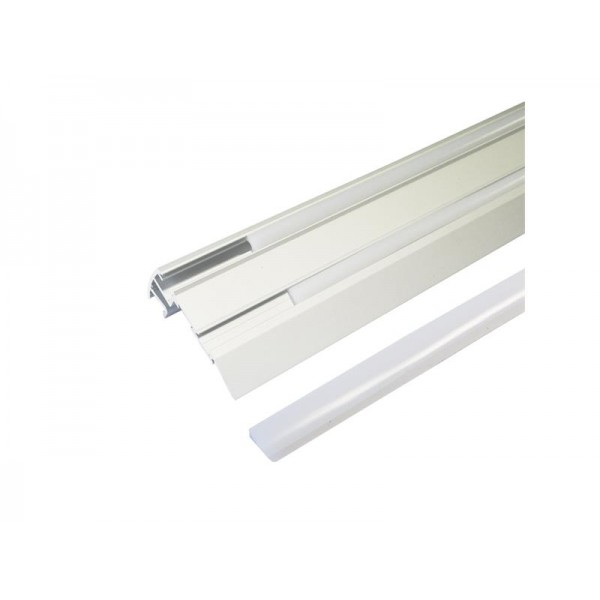 AL profil pre LED, Stair +plexi 67,5x27,8mm I=1m