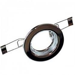 Svietidlo podhľadové pevné chróm pre žiarovku 50mm