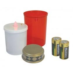 Svietidlo LED sviečka na cintorín + batérie ZADARMO