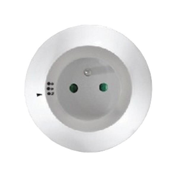 Nočné LED svetielko s priebežnou zásuvkou, voliteľné 3 farby svetla, senzor, 230V