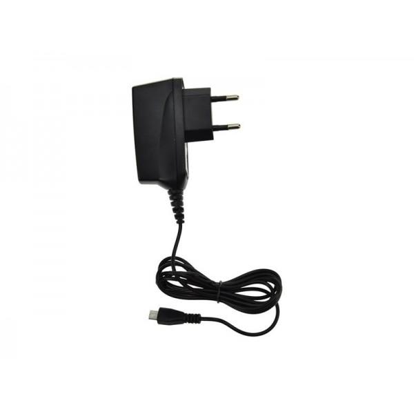 USB nabíjací adaptér, kábel microUSB, 1000mA, AC 230V, čierný DC38 SOLIGHT