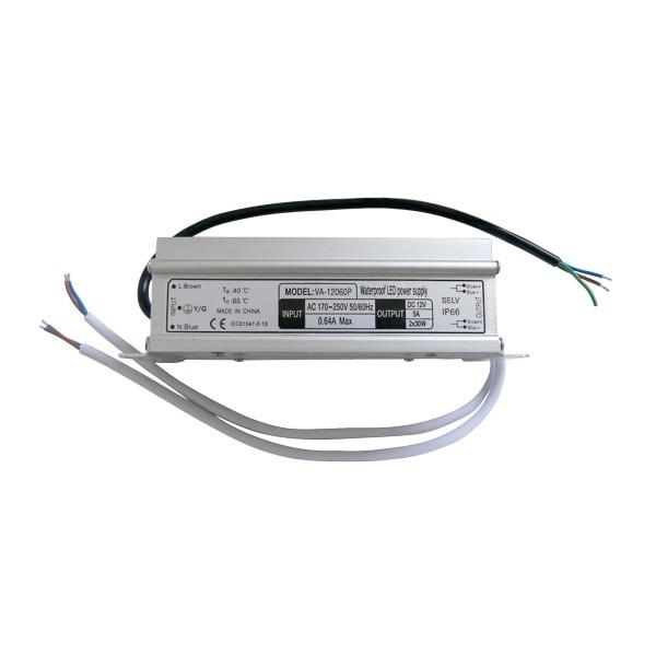 Zdroj spínaný pre LED diódy + pásiky 12V / 60W / 5A