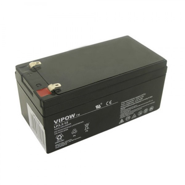 Batéria olovená 12V / 3.3Ah VIPOW bezúdržbový akumulátor