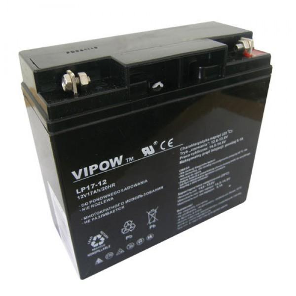 Batéria olovená 12V/17Ah VIPOW bezúdržbový akumulátor