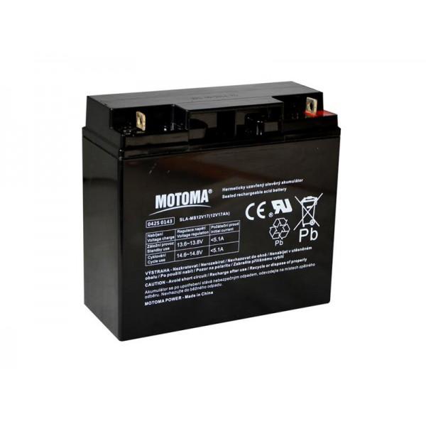 Batéria olovená 12V/17Ah MOTOMA bezúdržbový akumulátor