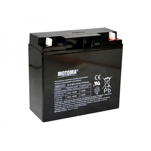 Batéria olovená 12V/20Ah MOTOMA bezúdržbový akumulátor