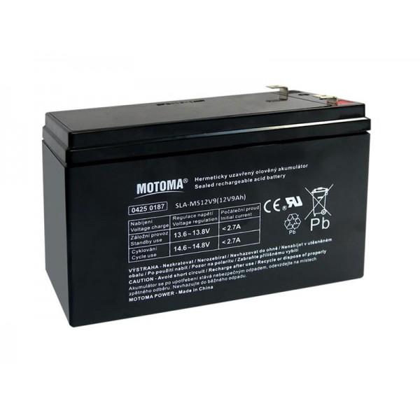 Batéria olovená 12V/ 9Ah MOTOMA bezúdržbový akumulátor