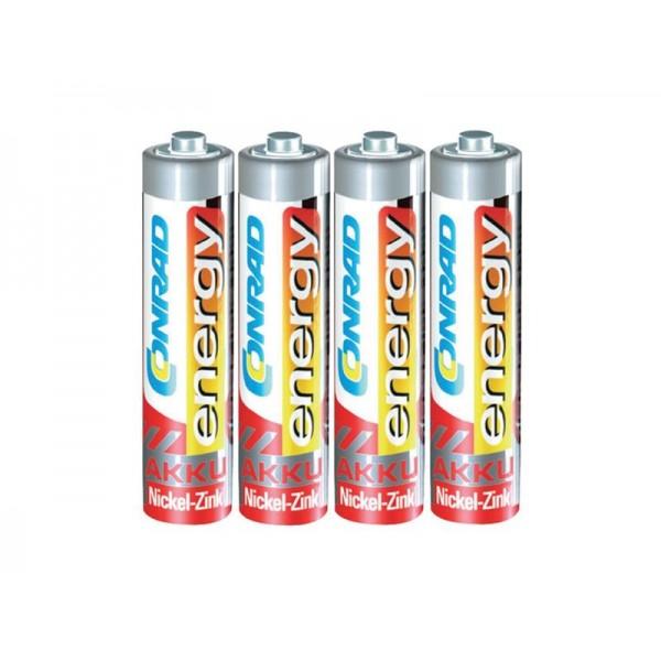 Batéria AAA(R03) nabíjacia CONRAD NiZn 550mAh, 1,6V (blister 4ks)