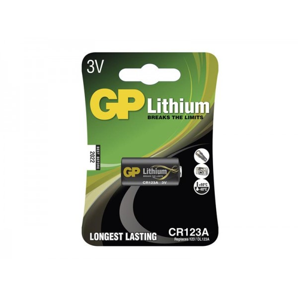 Batéria foto líthiová CR123A GP