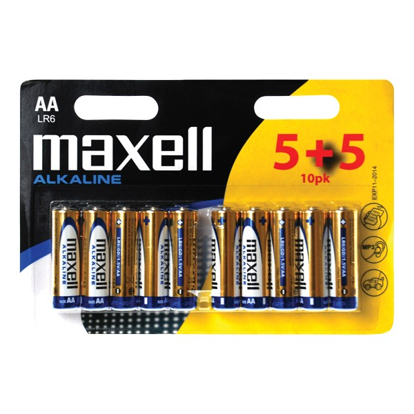 Batéria AA (R6) alkalická MAXELL (blister 10ks)