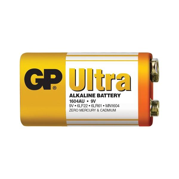 Batéria 6F22 (9V) alkalická GP Ultra Alkaline 9V