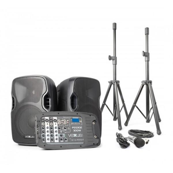 Rečnícky systém aktívny 2x 10 MP3-SD-USB-Bluetooth 300W Vexus PSS-302