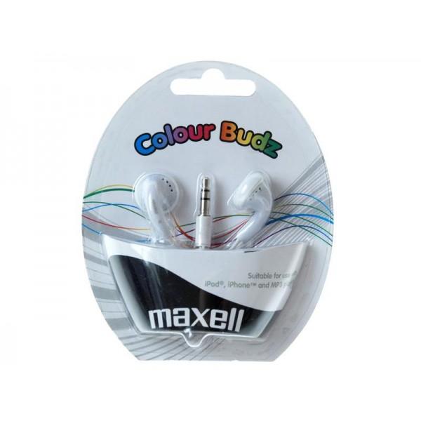Slúchadla Maxell 303484 Colour Budz White