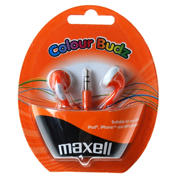Slúchadla Maxell 303360 Colour Budz Orange