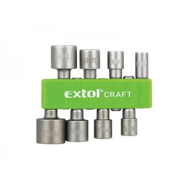 Sada nástrčných kľúčov do vŕtačky 8 kusov - EXTOL CRAFT